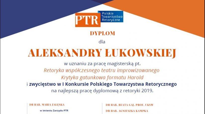 Wyniki I Konkursu PTR na pracę dyplomową