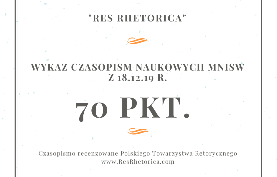 """Res Rhetorica"": 70 pkt."