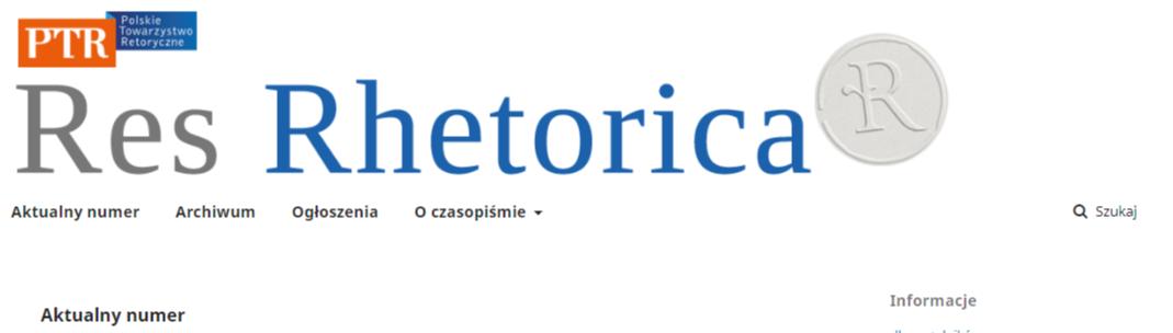"""""""Res Rhetorica"""" w nowej odsłonie"""